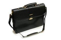 Black leather suitcase isolated Royalty Free Stock Photos