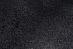 Black leather surface. Macro. Black leather material texture Royalty Free Stock Images
