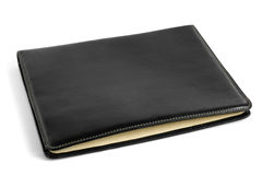 Black leather tablet computer bag Royalty Free Stock Photo