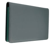 Black leather tablet Royalty Free Stock Photo