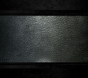 Black leather template light background Royalty Free Stock Image