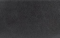 Black leather texture. Stock Image