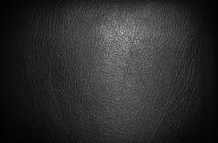Black leather for texture Royalty Free Stock Photos