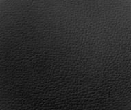 Black Leather Texture. Lighting from top right Royalty Free Stock Image
