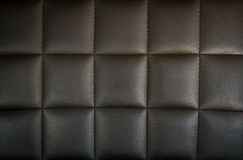 Black leather texture as background Stock Images