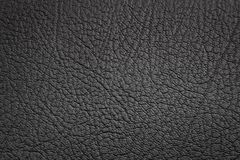 Black leather. And texture background Stock Image