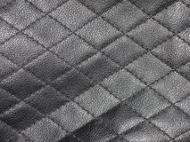 Black leather texture background Stock Photography