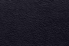 Black leather texture background. For design art work Royalty Free Stock Image