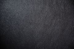 Black leather texture and background. With pattern design Royalty Free Stock Photography