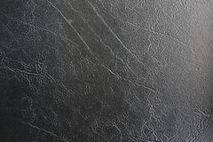 Black leather texture. In close up stock images