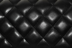 Black leather texture, bag, skin, chanel Royalty Free Stock Image