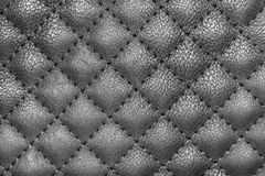 Black leather texture. Closeup of seamless black leather texture Stock Images