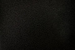 Black Leather Texture for Grunge Design Stock Images