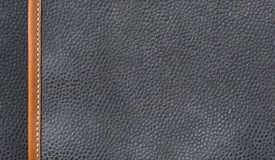 Black leather texture or surface background Stock Photography