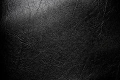 Black leather textured. Stock Image
