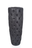 Black Leather Upholstered Vase Cut-out Royalty Free Stock Photography