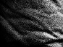 Black leather upholstery. Background texture Royalty Free Stock Photography