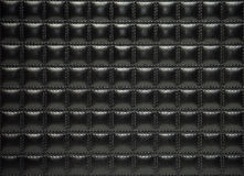 Black leather upholstery of furniture. Dark Stock Photo