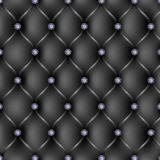 Black leather upholstery pattern background Stock Images