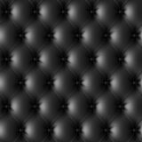Black leather upholstery pattern Stock Images