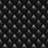 Black leather upholstery texture Royalty Free Stock Photo