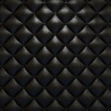 Black leather upholstery texture Royalty Free Stock Image