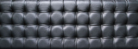 Black leather upholstery texture Stock Photos