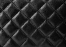 Black leather upholstery Royalty Free Stock Photos