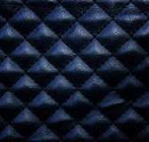 Black leather upholstery texture Royalty Free Stock Photography