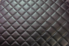 Black leather upholstery texture Stock Images