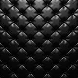 Black leather upholstery texture luxury background Royalty Free Stock Photo