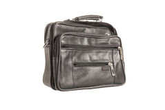Black leather valise Royalty Free Stock Photos