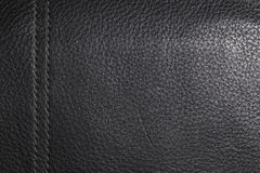 Black leather with a vertical line Stock Images