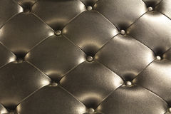 Black Leather. Vintage Black Leather Couch or Chair Background stock photography
