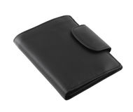 Black leather wallet Stock Photography