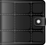 Black leather wallet Royalty Free Stock Photo