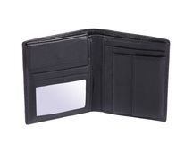 Black leather wallet. Stock Images
