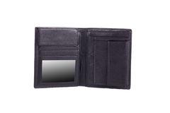 Black leather wallet. Stock Photography