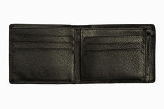 Black leather wallet isolated Royalty Free Stock Image