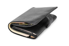 Black leather wallet Royalty Free Stock Photos