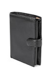 Black leather wallet Royalty Free Stock Photography