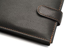 Black Leather Wallet with Latch Stock Photography