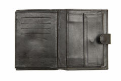 Black leather wallet Royalty Free Stock Image