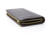 Black leather wallet with zipper Royalty Free Stock Photography