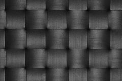 Black leather weave pattern Stock Image