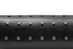 Black Leather With Spikes Stock Images