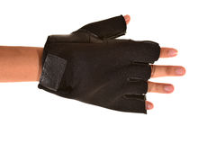 Black Leather Workout Gloves Royalty Free Stock Images