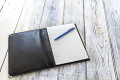 Black leather wrapper Stock Photography