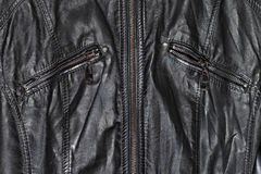 Black leather and zippers Royalty Free Stock Images