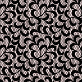 Black leaves lace pattern. Stock Photography
